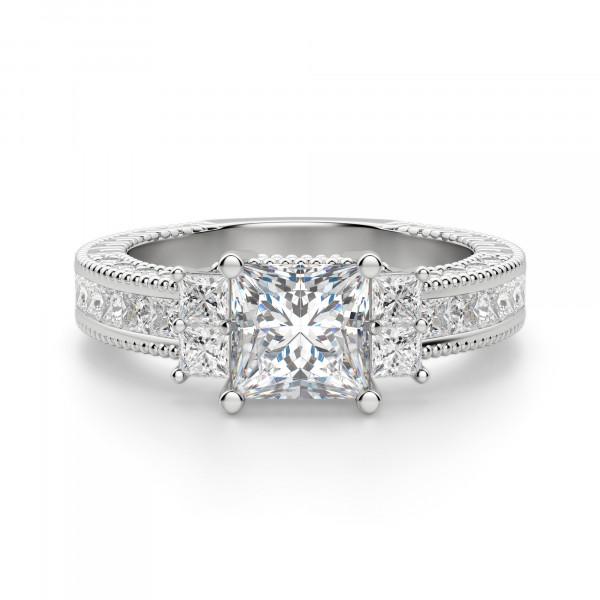 Amourette Princess Cut Engagement Ring