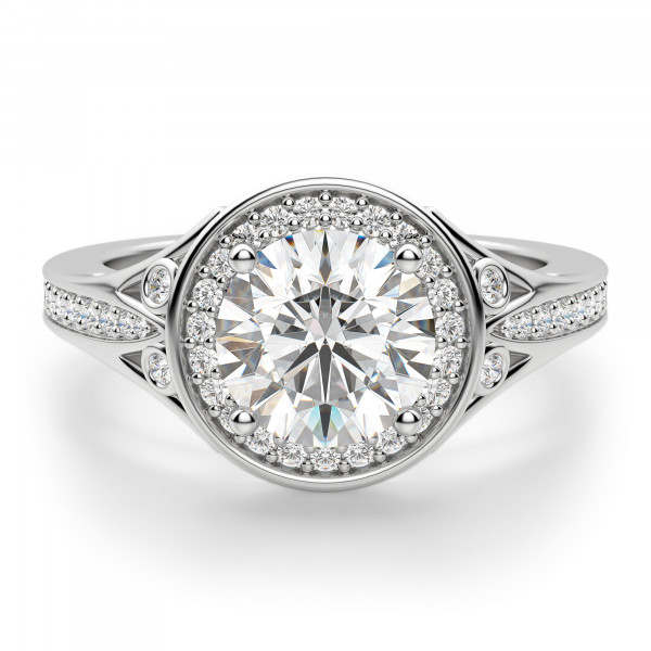 Athens Round Cut Engagement Ring