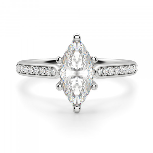 Bali Accented Marquise cut Engagement Ring