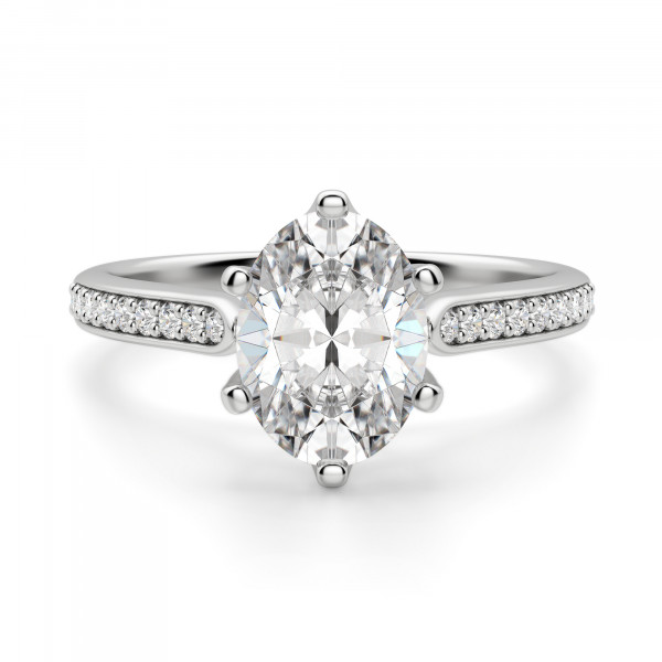 Bali Accented Oval cut Engagement Ring