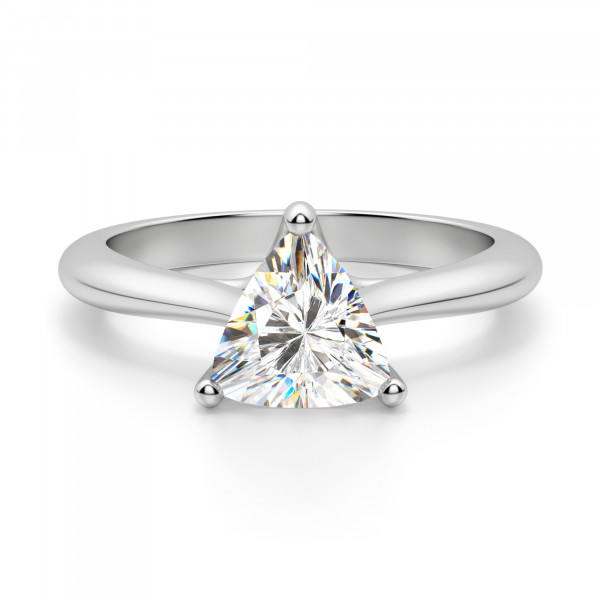 Bali Classic Trillion Cut Engagement Ring