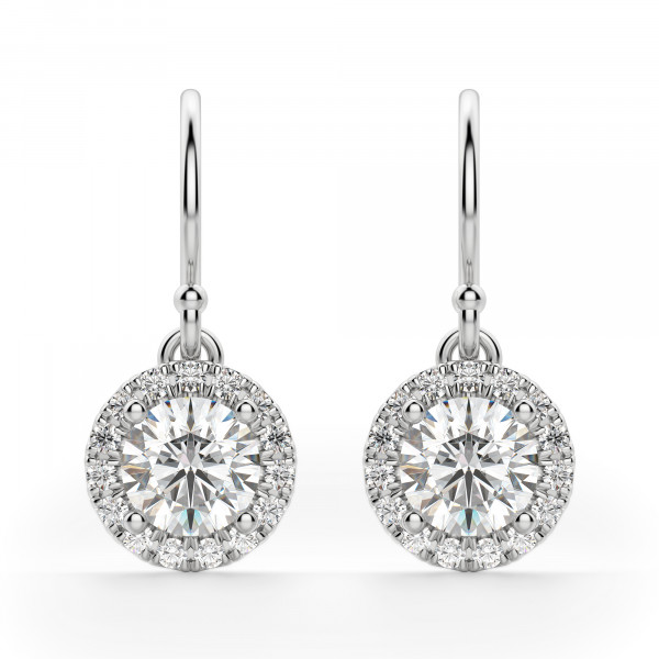 Berlin Round Cut Drop Earrings