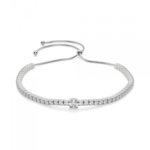 Bound To You Round Cut Bracelet, Silver