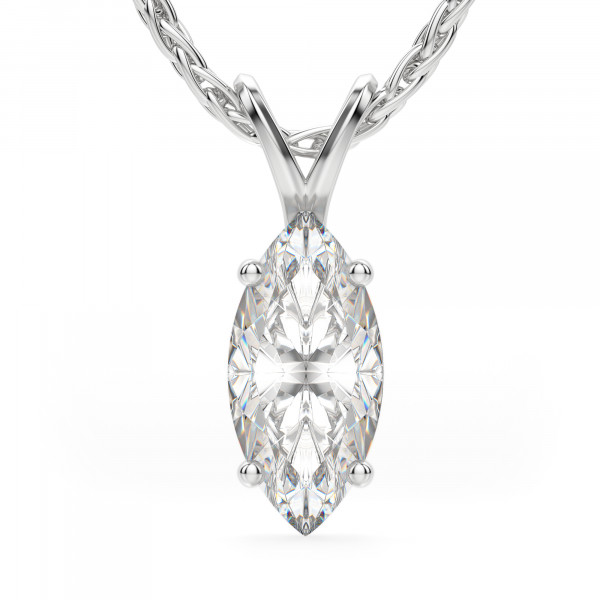 Marquise Cut Basket Set Pendant