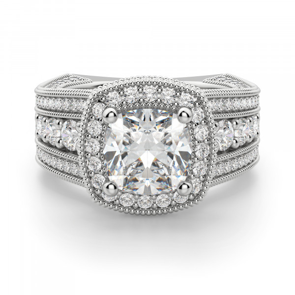 Chelsa Cushion Cut Engagement Ring