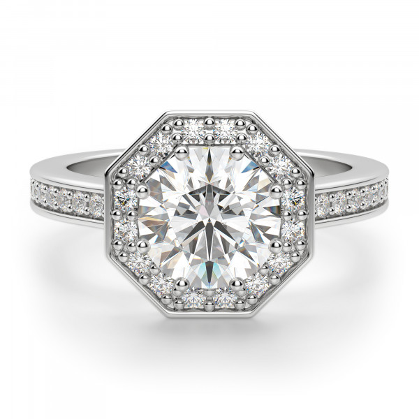 Cordoba Round Cut Engagement Ring