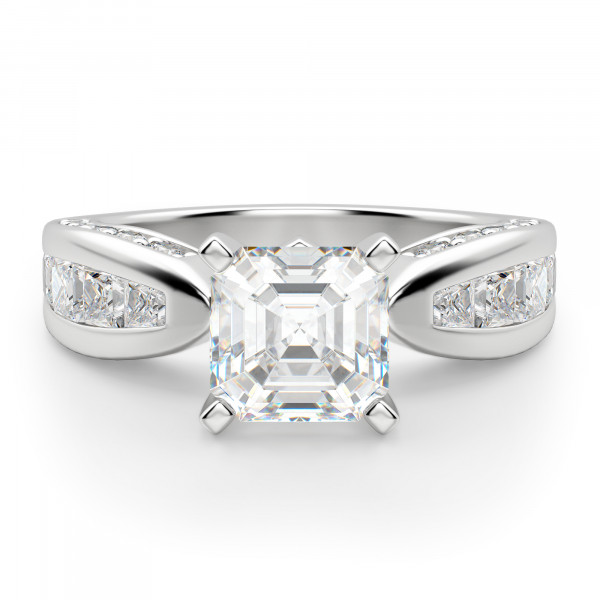 Deco Asscher Engagement Ring