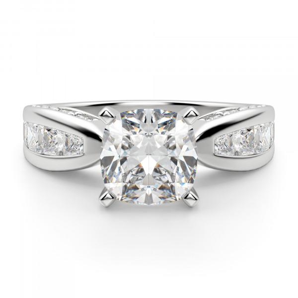 Deco Cushion Engagement Ring
