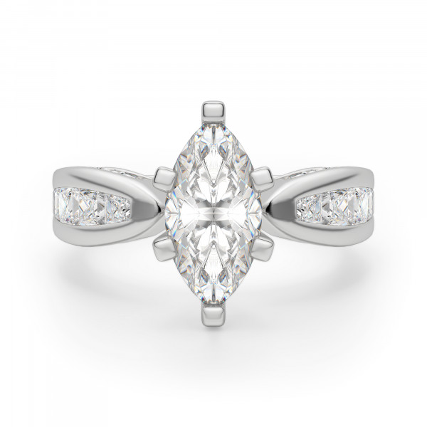 Deco Marquise Engagement Ring