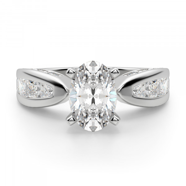 Deco Oval Engagement Ring