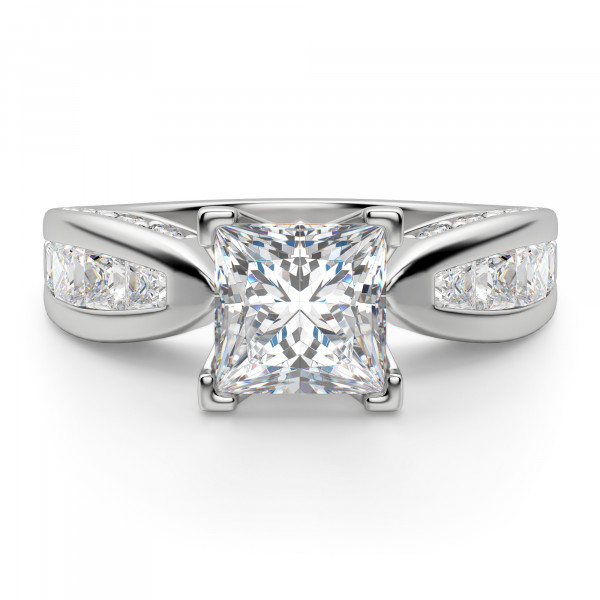 Deco Princess Engagement Ring