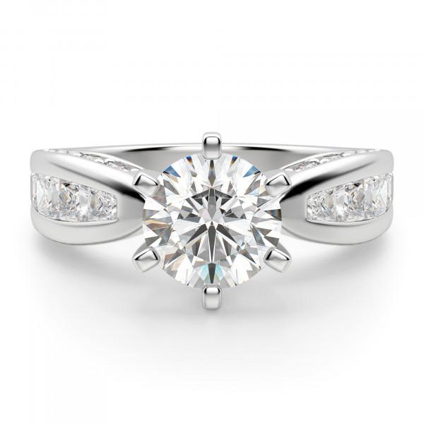 Deco Round Engagement Ring