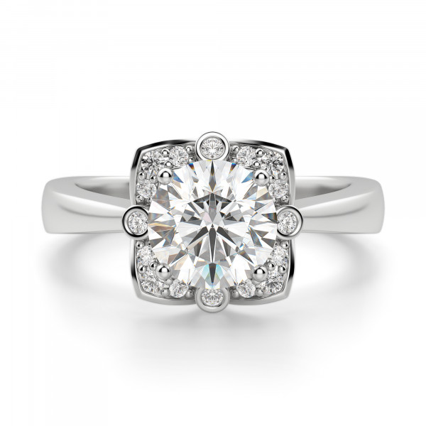 Edelweiss Round cut Engagement Ring