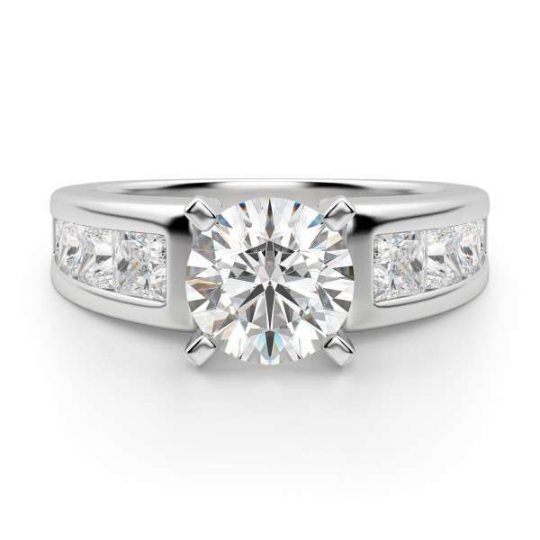 Escada Round Cut Engagement Ring