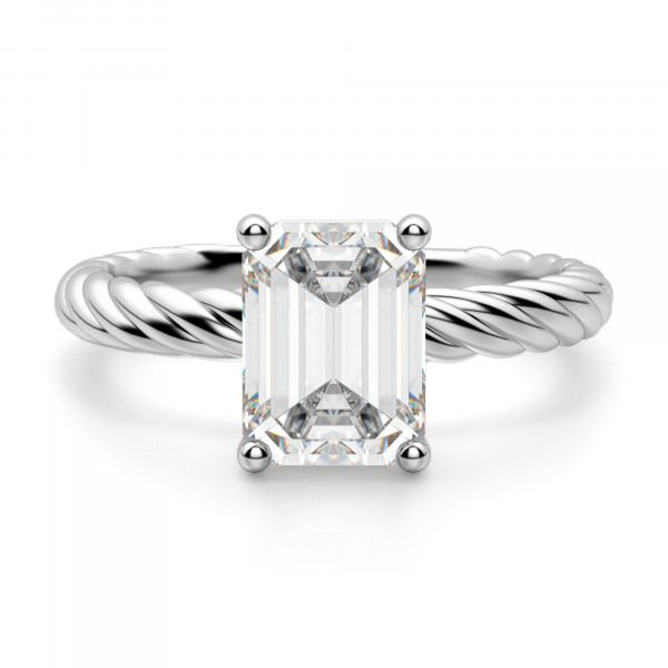 Fiji Emerald Cut Engagement Ring
