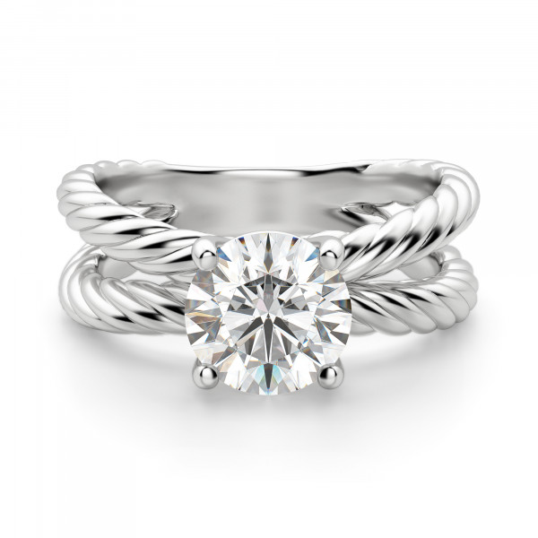 Fiji Split Band Round Cut Engagement Ring