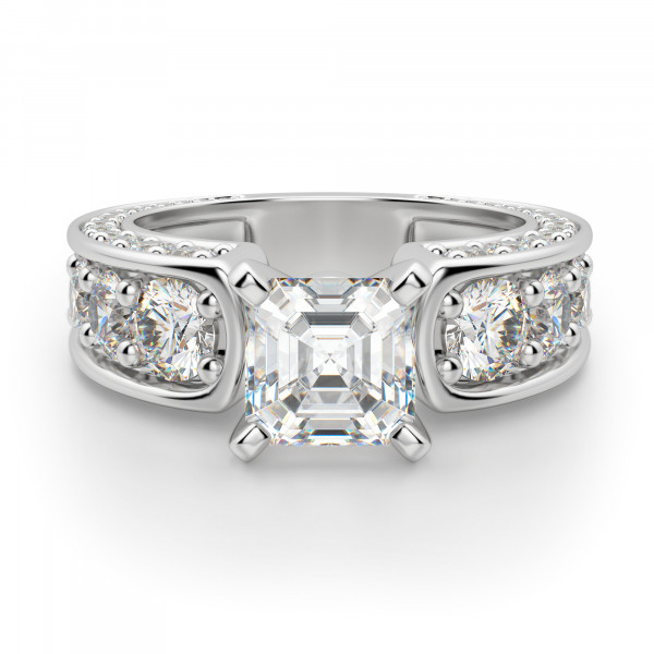 Hypnotique Asscher Cut Engagement Ring