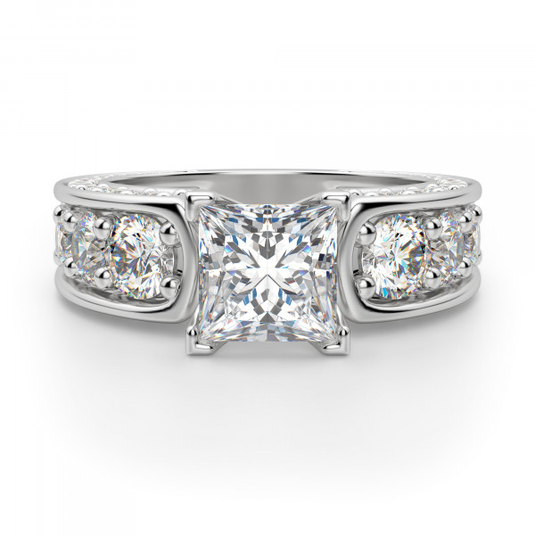 Hypnotique Princess Cut Engagement Ring