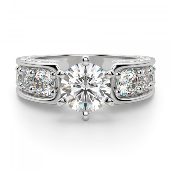 Hypnotique Round Cut Engagement Ring