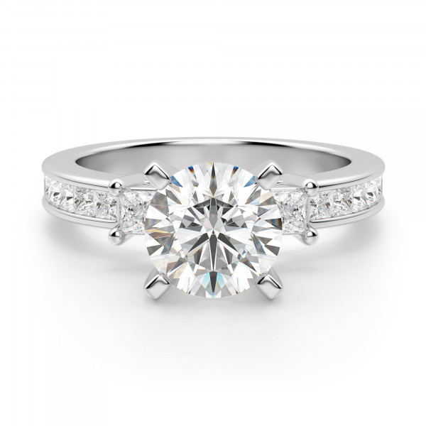 Kit Round Cut Engagement Ring