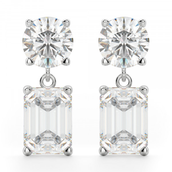 Leto Emerald Cut Drop Earrings