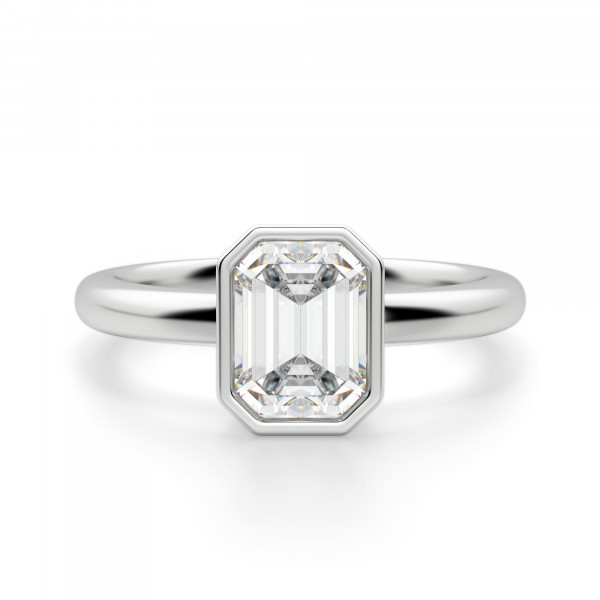 Marseille Emerald Cut Engagement Ring
