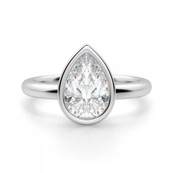 Marseille Pear Cut Engagement Ring