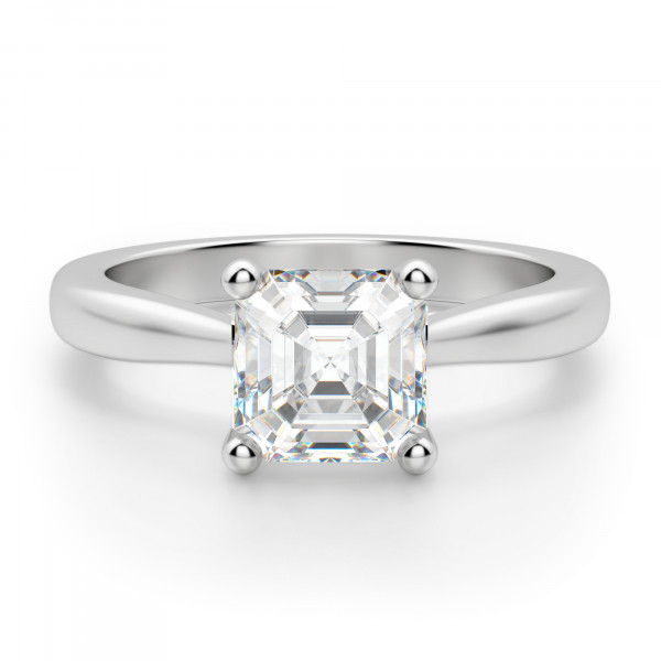 Montreal Asscher Cut Engagement Ring