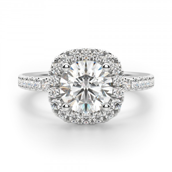 Naples Round Cut Engagement Ring