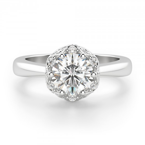 Nottingham Round Cut Engagement Ring