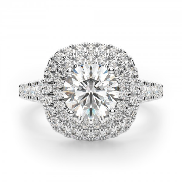 Pamplona Round Cut Engagement Ring
