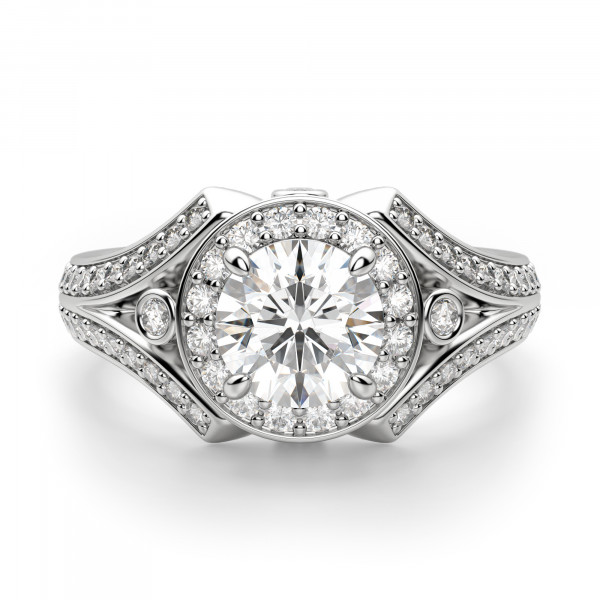 Rhodes Round Cut Engagement Ring