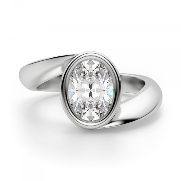 Rome Oval Cut Engagement Ring