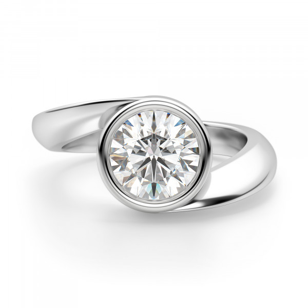 Rome Round Cut Engagement Ring
