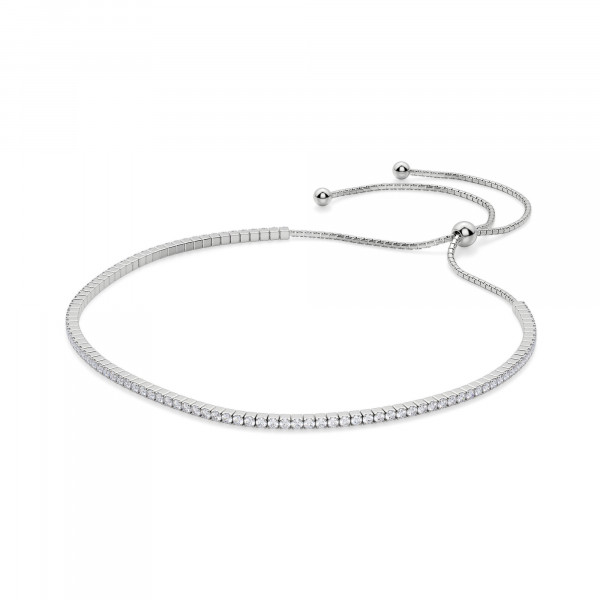 Simply Bound Round Cut Bracelet, Silver