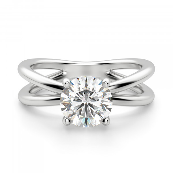 Tahiti Split Band Round Cut Engagement Ring