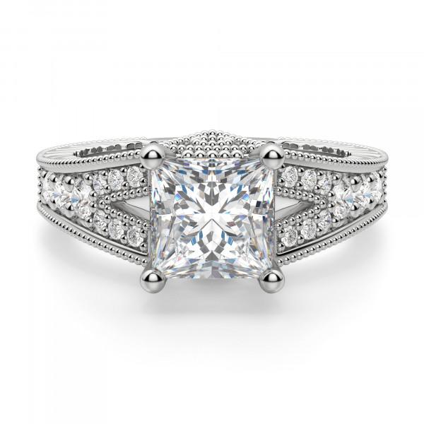 Valencia Princess Cut Engagement Ring