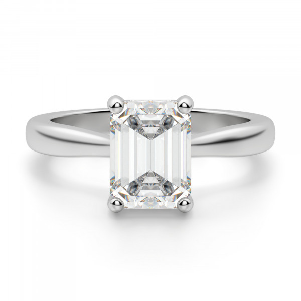 Verona Emerald Cut Engagement Ring
