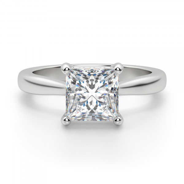 Verona Princess Cut Engagement Ring