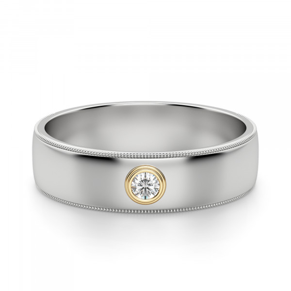 Atlas Round Cut Wedding Band