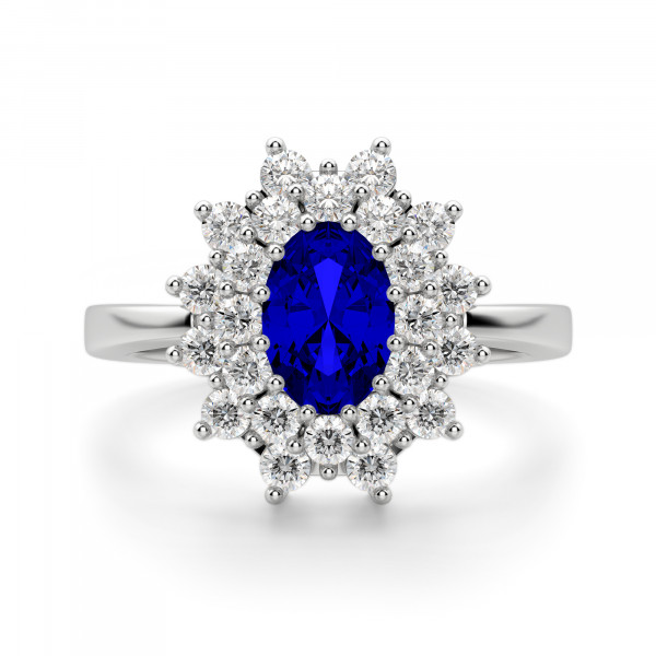 Lady of Kensington Oval Cut Engagement Ring