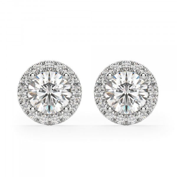 Berlin Round Cut Stud Earrings
