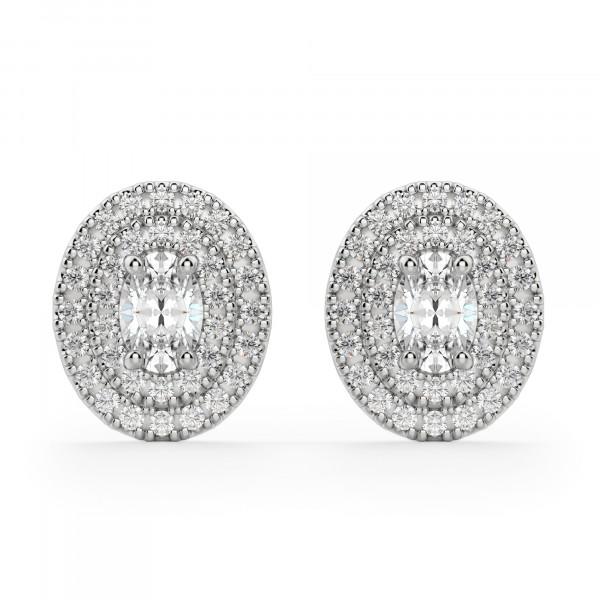 Almeria Oval Cut Stud Earrings
