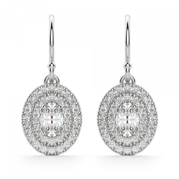 Almeria Oval Cut Drop Earrings