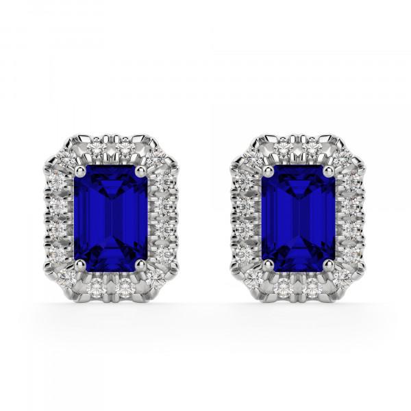 Bristol Sapphire Stud Earrings