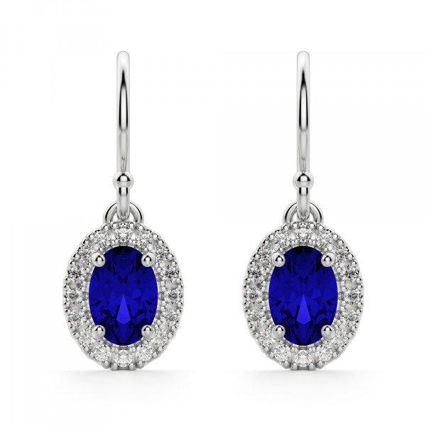 Carmona Sapphire Drop Earrings