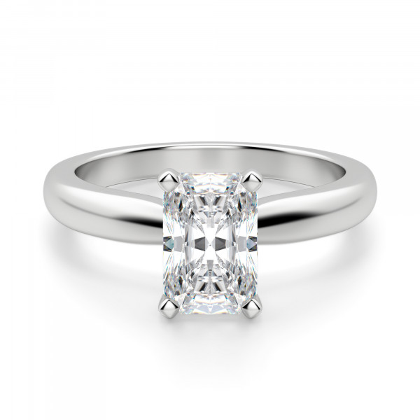 Tiffany-Style Solitaire Radiant Cut Engagement Ring