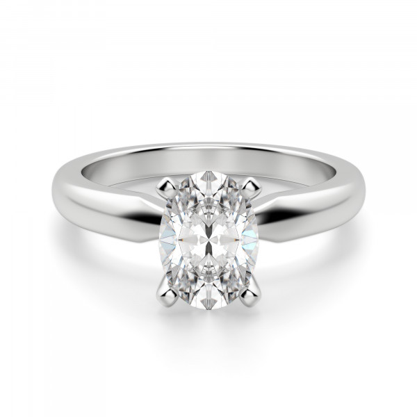 Tiffany-Style Solitaire Oval Cut Engagement Ring