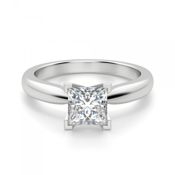 Tiffany-Style Solitaire Princess Cut Engagement Ring