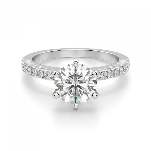 Angelix Round Cut Engagement Ring